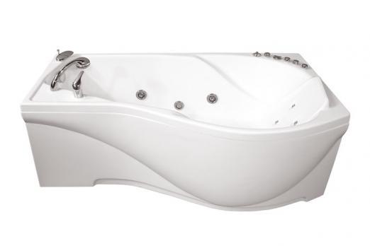 Ванна акриловая Тритон Мишель 170x96x60 левая на каркасе