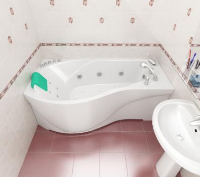 Ванна акриловая Тритон Мишель 170x96x60 правая на каркасе