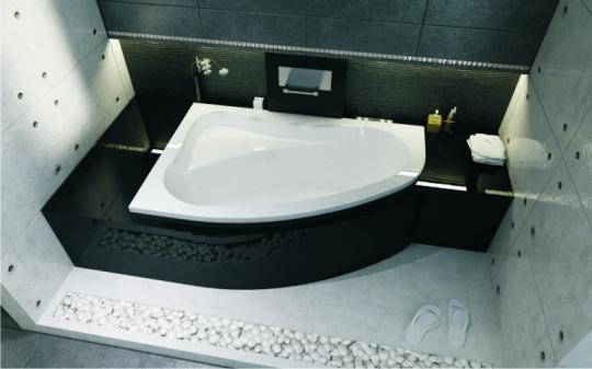 Ванна акриловая RIHO Lyra 140x90 R правая