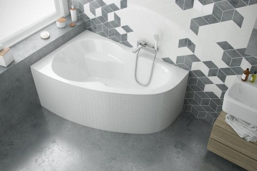 Ванна акриловая Excellent Newa 140х95, левая