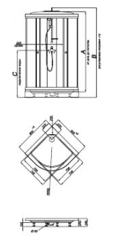Душевая кабина Тритон Ультра А 90х90 + ДН4 прозрачное стекло