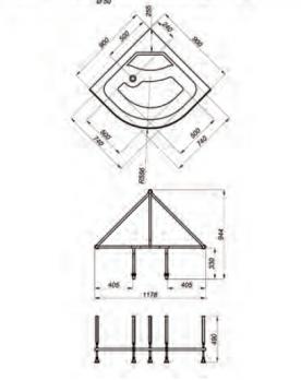 Душевая кабина Тритон Стандарт Б2 90х90 высокий поддон + ДН4