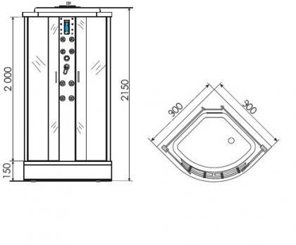 Душевая кабина ERLIT ER 4509 P-C3 90x90 матовая