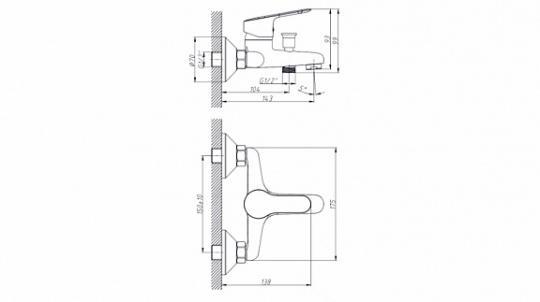 Смеситель Triton ДВ8 для ванны