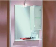 Зеркало со шкафом АЛЬТАИР 65 правое. Акватон 1A100002AR01R