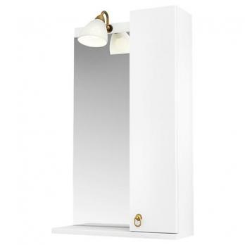 Зеркало Тритон Реймс-50 с подсветкой и подвесным шкафчиком справа