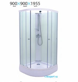 Душевой уголок (ограждение) Тритон Ультра А1 90х90 с низким поддоном