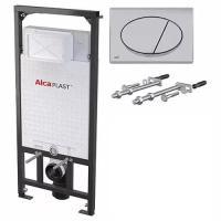 Инсталляция для унитаза AlcaPlast AM101/1120 + кнопка M071 хром глянец