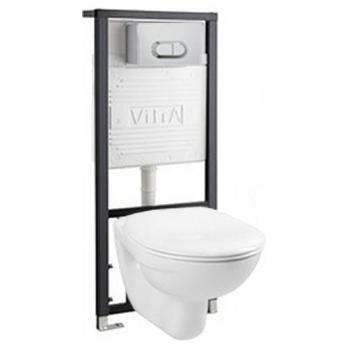 Комплект инсталляции VITRA Normus 9773B003-7202 + унитаз подвесной сиденье дюропласт