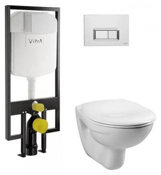 Комплект инсталляции VITRA Normus 9773B003-7200 + унитаз подвесной сиденье микролифт
