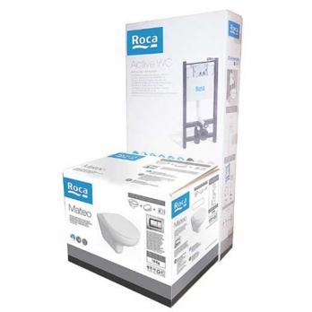 Комплект инсталляции Roca Pack Mateo 893100010 ПЭК + унитаз с крышкой-сиденьем микролифт