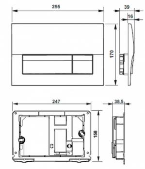 Комплект инсталляции ROCA GAP ПЭК 893104100 безобод. сид. микролифт