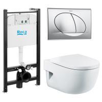 Комплект инсталляции ROCA MERIDIAN ПЭК 893104110 + кнопка + сиденье микролифт