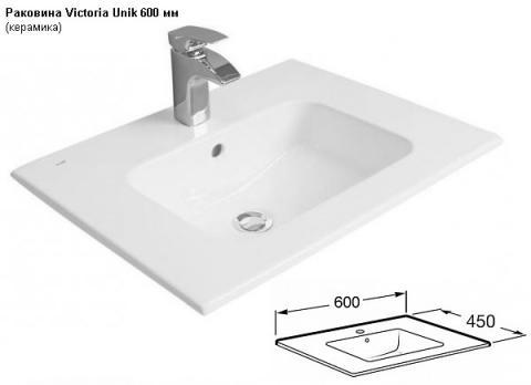 Раковина Victoria Unik 600 мм