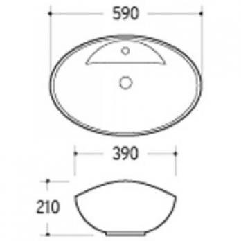 Раковина накладная MELANA MLN-7167 590х400х200 мм