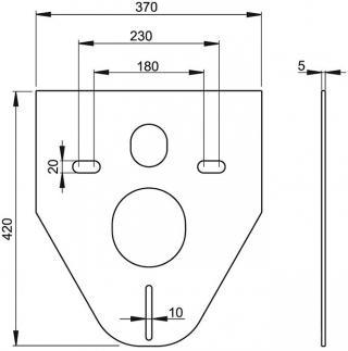 Плита звукоизоляционная для подвесного унитаза m91