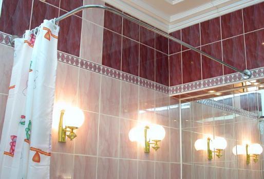 Карниз для ванны 180х80 г-образный хромированный
