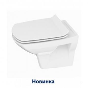 Унитаз подвесной безободковый Cersanit Carina Clean ON тонкое сид микролифт SoftClose