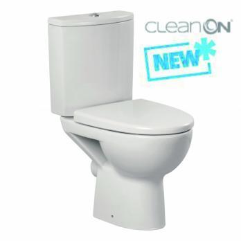 Унитаз напольный безободковый Cersanit Parva Clean ON с сиденьем микролифт