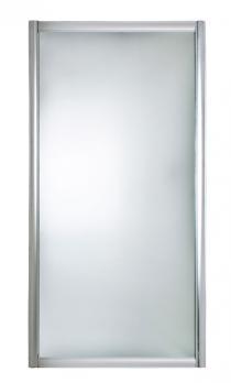 Шторка боковая 1Марка 75х140 с белым профилем матовое стекло