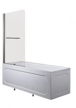Шторка для ванной 1Марка Р-02 82x150 прозрачное стекло