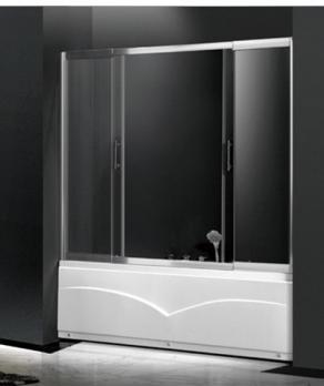Шторка для ванны AULICA AL-162 160/180х150 прозрачная