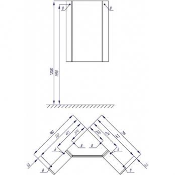 Центральный модуль зеркального шкафа - Кантара (1A205702ANW70)