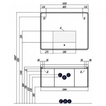 Зеркало Акватон - Шерилл 105 (1A206402SH010)
