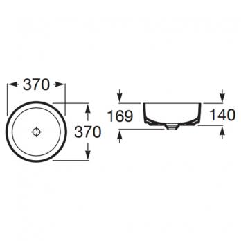 Раковина накладная Roca - Inspira Round 37x37 (A327523000)