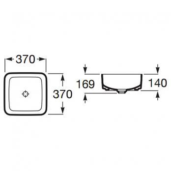 Раковина накладная Roca - Inspira Square 37x37 (A327532000)