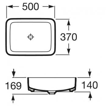 Раковина накладная Roca - Inspira Square 50x37 (327530000)