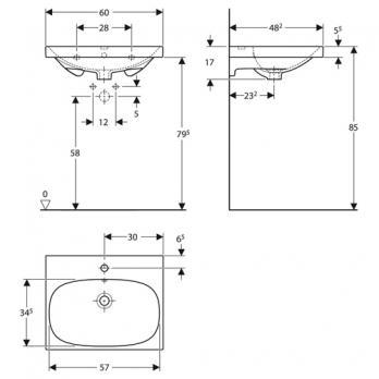 Раковина встраиваемая Keramag - Acanto 60x48 (500.620.01.2)