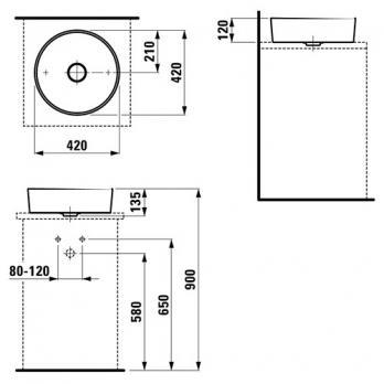 Раковина-чаша Laufen - Kartell 42x42 (8.1233.1.000.112.1)