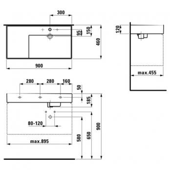 Раковина накладная Laufen - Kartell 90x46 (8.1033.9.000.104.1)