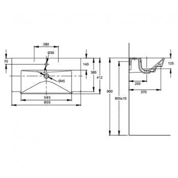 Раковина Jacob Delafon - Reve 80x41 (E4803-00)