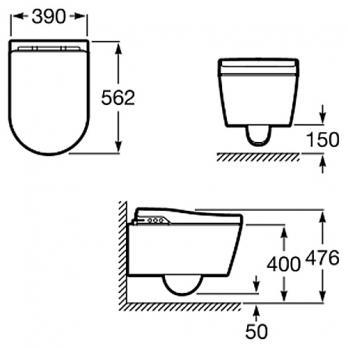 Электронный подвесной унитаз Roca - Inspira In-Wash (803060001)