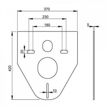 Инсталляция для подвесного унитаза Alcaplast AM101/1120+M1720-1+M91 бел/хром-глянец