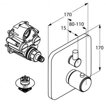 Смеситель для ванны Kludi - E2 (498300575)