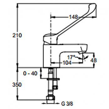 Смеситель для раковины Jacob Delafon - July Easy (E16024-4-CP)