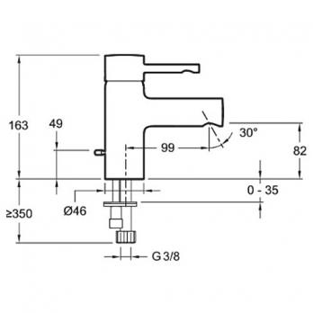 Смеситель для раковины Jacob Delafon - Cuff (E37041-CP)