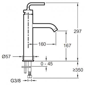 Смеситель для раковины Jacob Delafon - Purist (E14404-4A-CP)