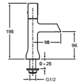 Кран для холодной воды Jacob Delafon - Toobi (E8967-CP)