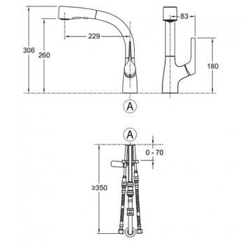Смеситель для кухни Jacob Delafon - Elate (E13963-CP)