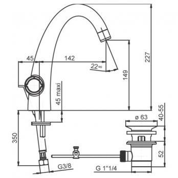 Смеситель для раковины Jacob Delafon - Elevation (E18870-CP)