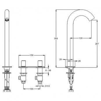 Смеситель для раковины Jacob Delafon - Talan (E10094RU-CP)