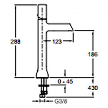 Смеситель для раковины Jacob Delafon - Toobi (E8960-CP)