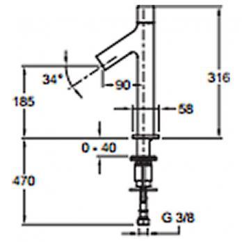 Смеситель для раковины Jacob Delafon - Talan (E10379RU-CP)