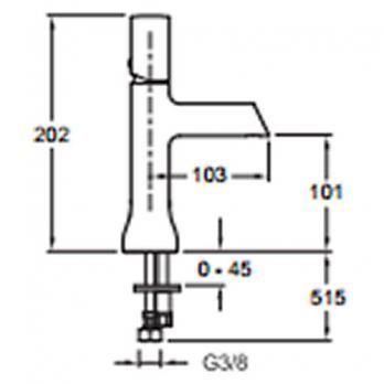 Смеситель для раковины Jacob Delafon - Toobi (E7329-CP)