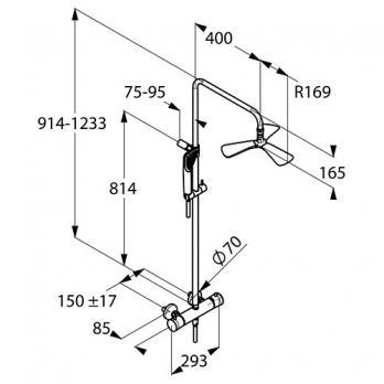 Душевая система Kludi - Fizz (6709505-00)