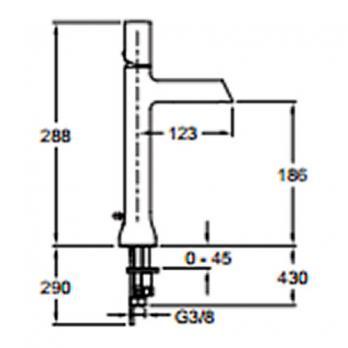 Смеситель для раковины Jacob Delafon - Toobi (E8990-CP)